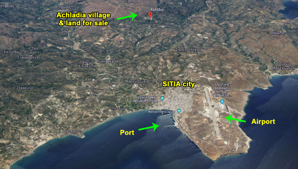 Achladia village kreta