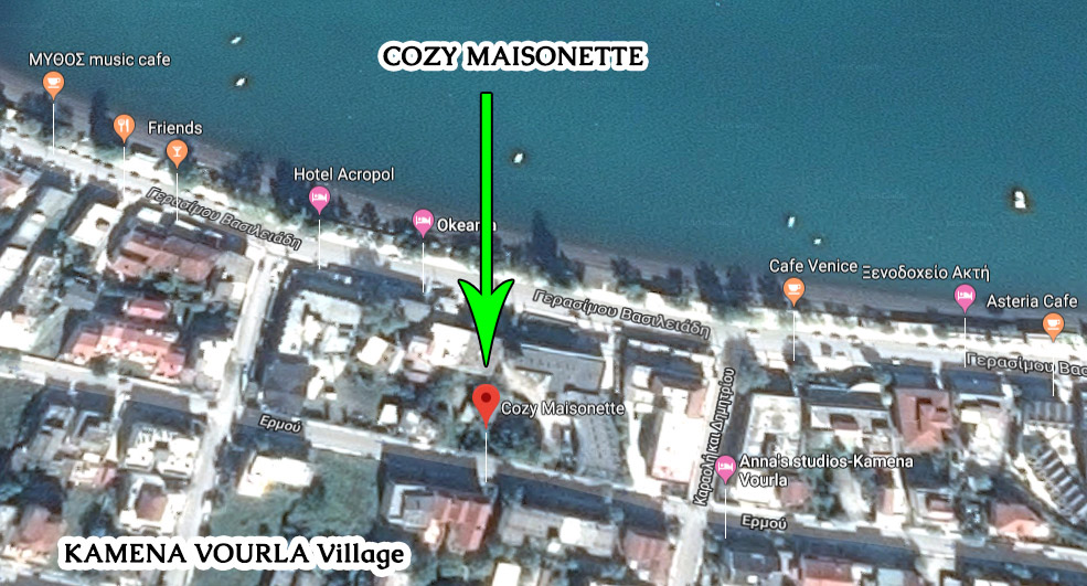 kamena vourla village map